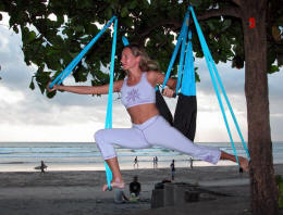Yoga swing exercise - stretch