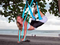 Yoga swing exercise - fly